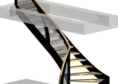 Modélisation 3D escalier