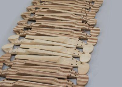 Fabrication des corps de violons électriques