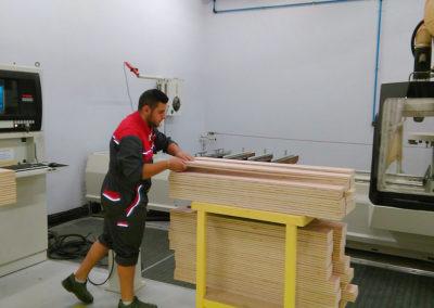 Atelier de fabrication abri d'urgence