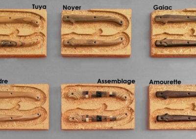 Les essences de bois pour les manches